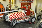 This Hilligas chassis midget was raced all over the Northeast in the late '40s and early '50s, primarily driven by King Carpenter. A New Hampshire-based private collector bought the car over 20 years ago. He has agreed to loan the car to the North East Motor Sports Museum. Interestingly, the car's owner, Fred O'Hara, built a matching quarter-midget for his son. Painted just like the full-up midget, the car disappeared but was finally found in a South Carolina barn.