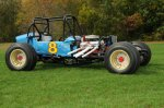 This is one of the most successful pre-roadster supermodifieds ever built. The car was primarily driven by Billy Murphy, who won more races in it than anyone else. But, Dave Thomas and Whitey Hoyt also won driving #8. The restoration was begun by Pete vonSneidern and completed by Jim Martel. You'll marvel at how primitive and inexpensively built the car is when you see it at the North East Motor Sports Museum.