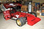 This is the first supermodified ever built by Clyde Booth. The car won the 1978 Star Speedway Classic driven by the late Dave Thomas. It was restored by Thomas and his son, Dave Jr., and is now owned by Dick Berggren. It has been displayed at F-1 Boston and will be seen at the North East Motor Sports Museum.